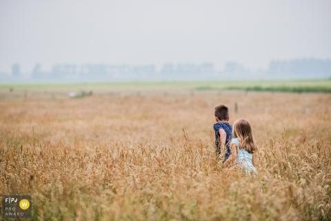 Jour de Groningue dans les séances de photographie de la vie | Pays-Bas frère et soeur aventures dans la cour