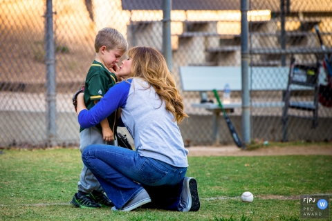 Ventura California young boy is learning how hard the baseball is