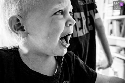 Dusseldorf North Rhine-Westphalia Temper tantrum of a little girl