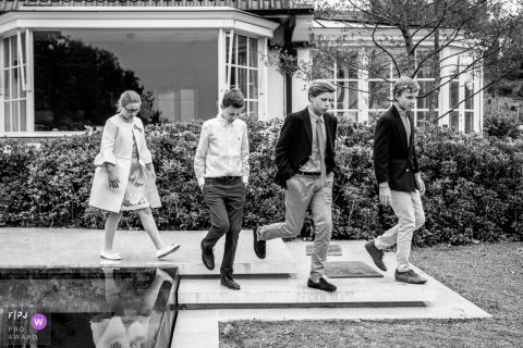 Aalst East Flanders photo of all 4 kids walking