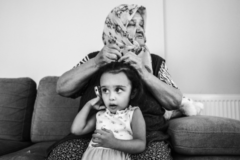 family documentary shooting in Izmir, with the grandmom