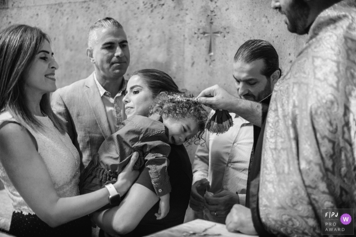 Baptism ceremony in Armenia, Echmiadzin church - Family photography in Europe
