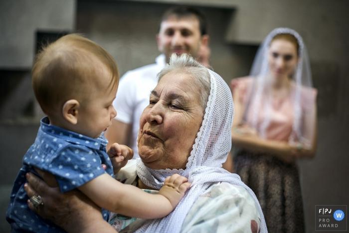 Armenia photo session at the church With grandma.