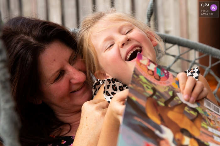 Noord Brabant happy laughter mother and daughter | Breda family photo sessions