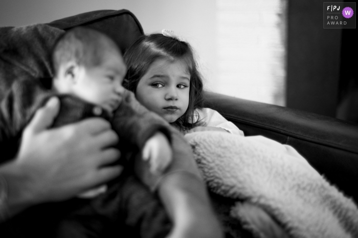 New Jersey Sister looks at little brother skeptically
