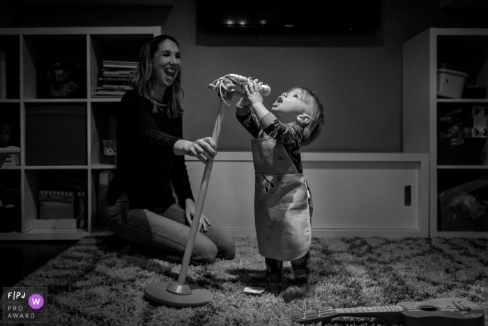 Chicago image of some At home karaoke with a toddler