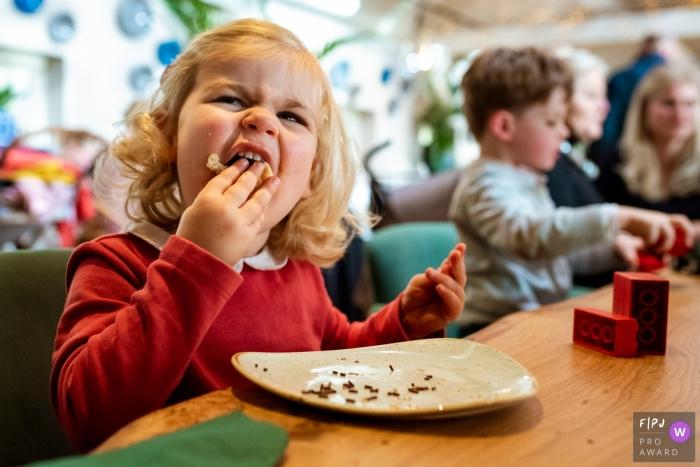 Noord HollandNetherlands child having A sandwich with hagelslag. All Dutch kids love it!