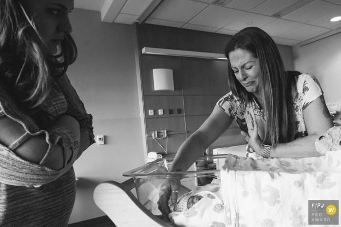 Seattle, Washington birth photography - family grieving over the loss of babies at Tacoma General