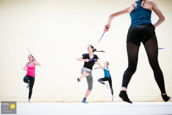 Rhythmics gymnastics practice image created by Slovenia family photographer
