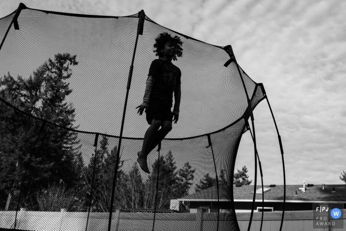 Emilia-Romagna Documentary Family Photo | High jump on the trampoline