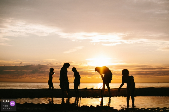 Netherlands Sunset Family Session at the beach