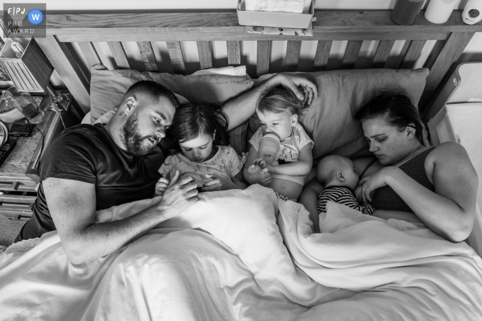 Day in the Life photography session at home inSomerset with some Sunday morning family snuggles